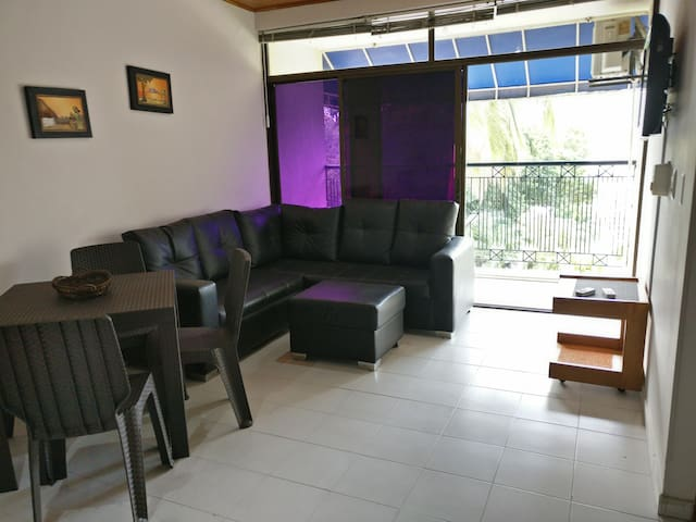 Sea view,2bd apartment, 15 metres from the beach