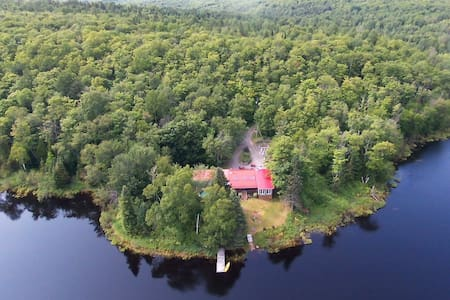Lac Rousseau: Private lake and 20 acres of land - La Minerve