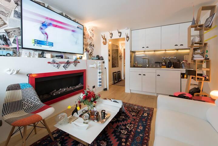 Très bel appartement skis aux pieds