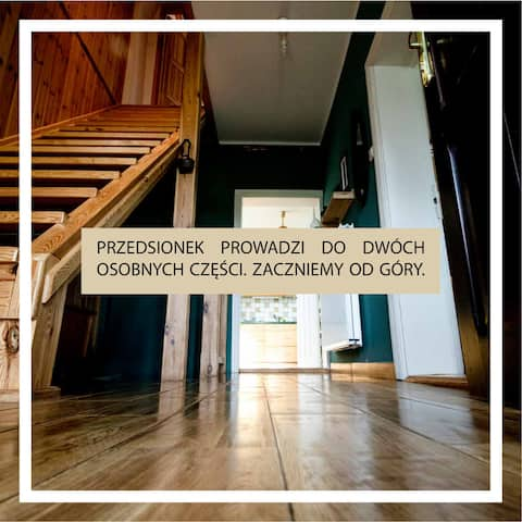 Fiałki 25 - Dom wiejski (cały dom - 2 mieszkania)