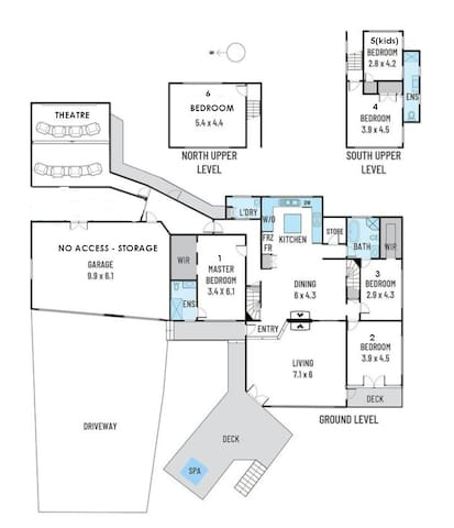 Floor plan and room locations