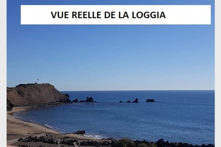 CAP D'AGDE Front de mer-Lavelinge-Parking-Plage30m