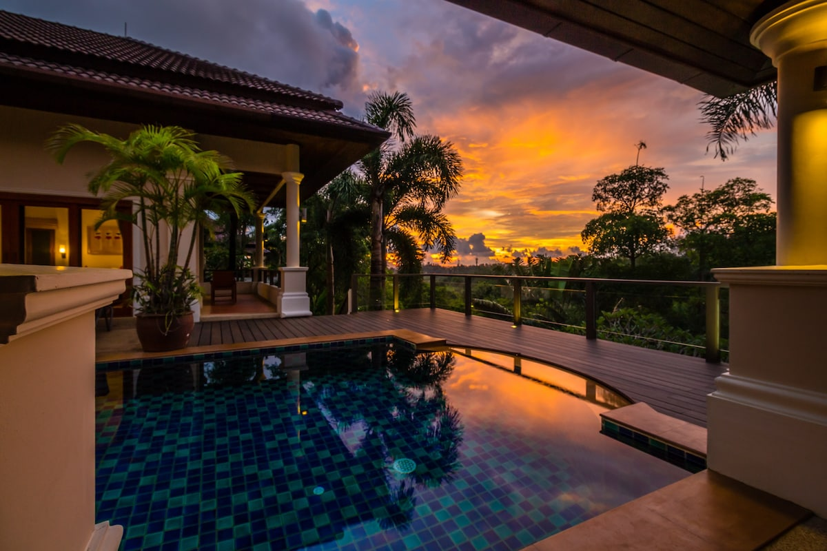 Tranquil hillside villa with swimming pool and gym lw villas
