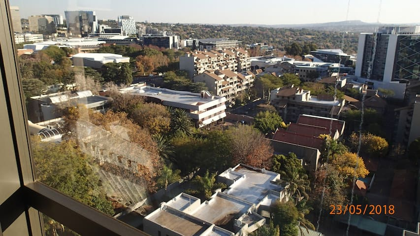 View from the apartment, south-west of Sandton