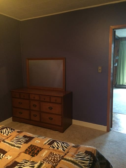 Dresser in the purple room.