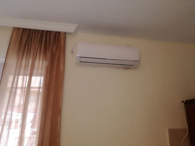 air-conditioner in a living room