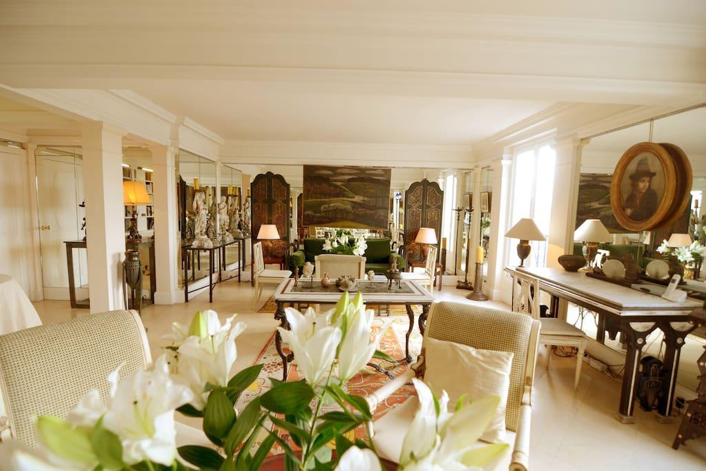 Spacious beautiful living room