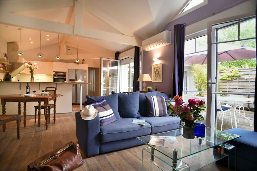1mn du bassin ma maison de r ve au moulleau maisons louer arcachon aquitaine. Black Bedroom Furniture Sets. Home Design Ideas