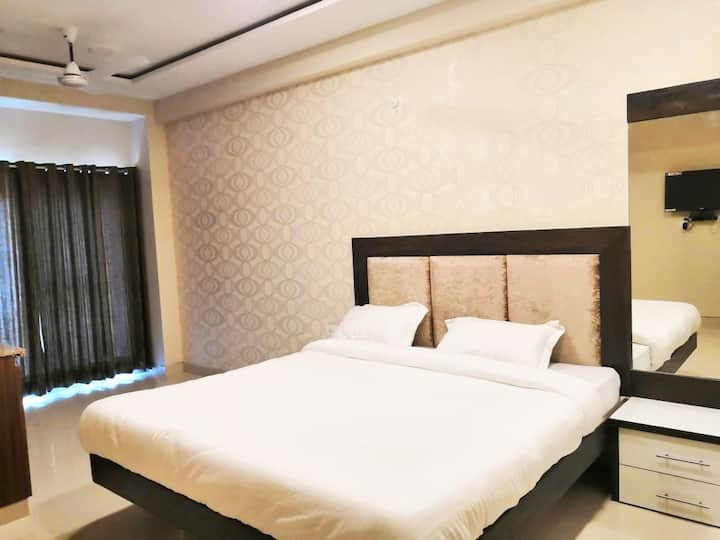 AC Studio Room with Balcony (fully furnished)