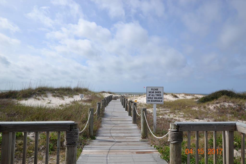 beautiful boardwalks beckon you to the beach