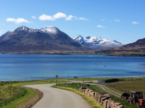 View towards the Isle Of Skye from Iverarish, the village on Raasay.