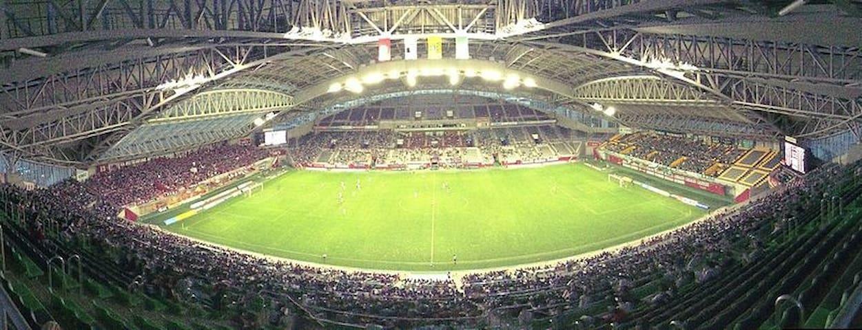 It's Misaki Stadium(NOEVIR STADIUM KOBE), Vissel Kobe football team will be based at here. And it will be held Rugby World cup 2019 !!