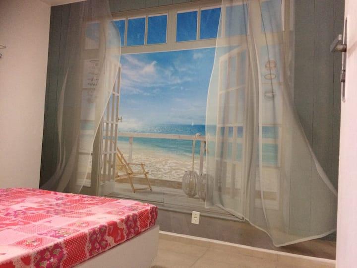 WIFI - TOMBO, 300m da praia,  2 dorm.confortáveis,