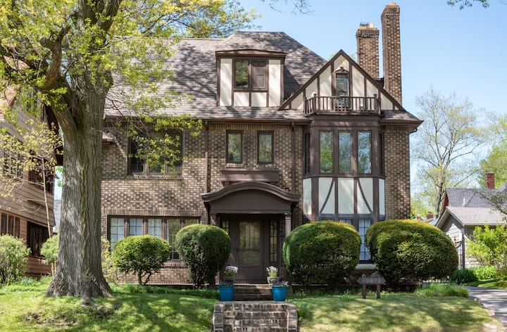 Heights Tudor, entire private first floor apt.