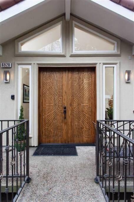 Impressive front entrance