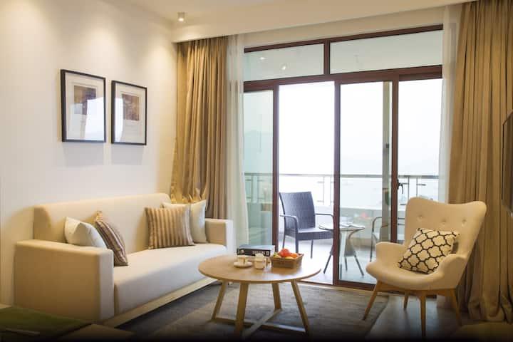 千岛湖 绝美湖景 双卧豪华度假套房6 佰澜酒店(两个双床房)