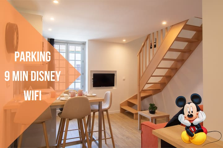 Le Mickey ★ CosyRenting ★ Parking ★ 9 min Disney
