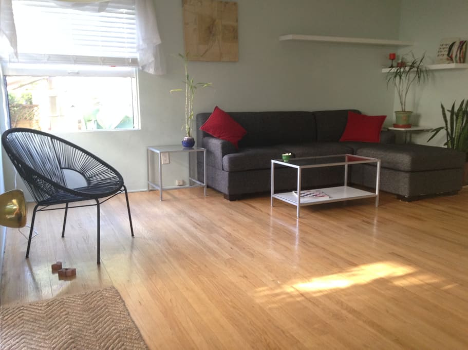 part of main living space, comfortable, free of clutter, lots of light
