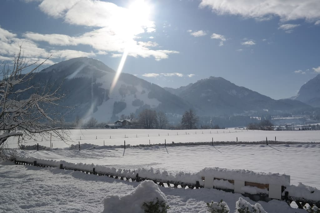 Ausblick Unterberg Winter