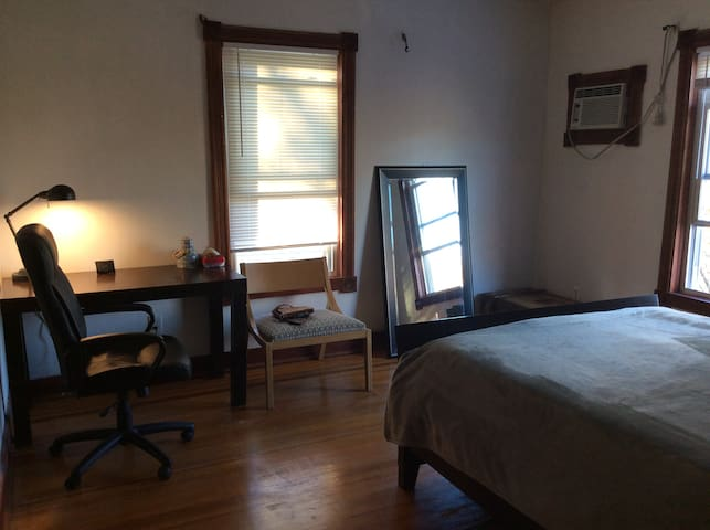 Spacious and comfortable room, faces a park