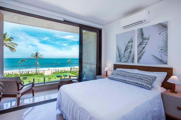 Apartamento  Família Luxo vista mar com 3 suítes