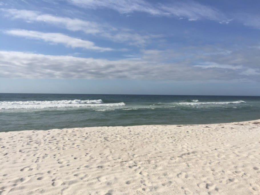 Our beach -- a 2 minute walk