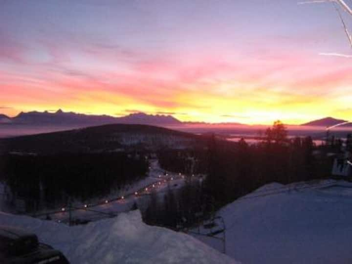 Enjoy the view from our true ski in ski out!