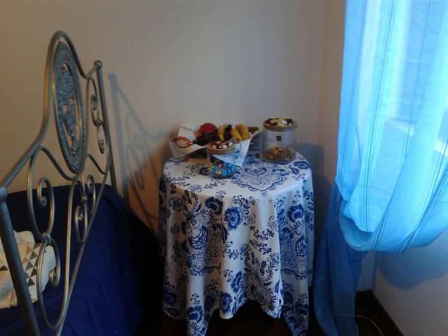 Blue Bedroom table