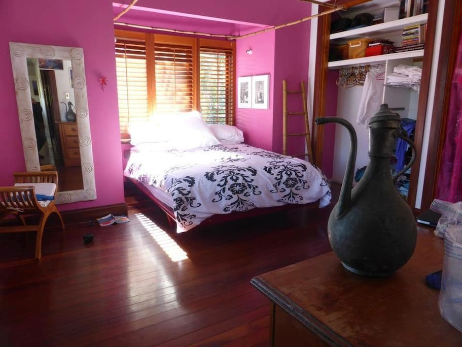 Master bedroom now with king size bed