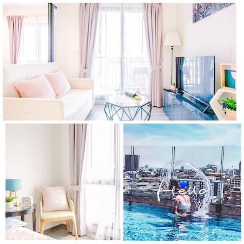 #2无边泳池/BTS轻轨/2.5km大皇宫考山路/ICONSIAM/提供酒店预订单