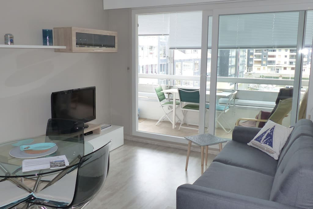 Salon et canapé rapido couchage 2 personnes / Living room with convertible bed for 2 people