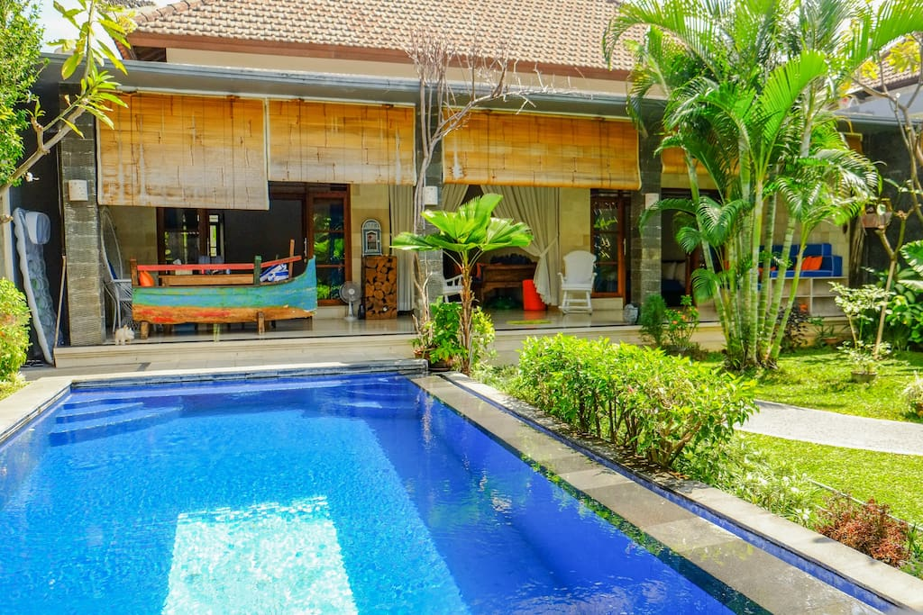 Characteristic Sofa build in an abandoned boat,Eolian style , but at the same Balinese style.