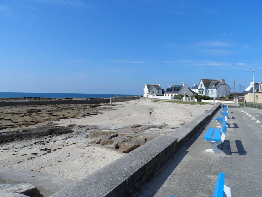 plage devant la résidence