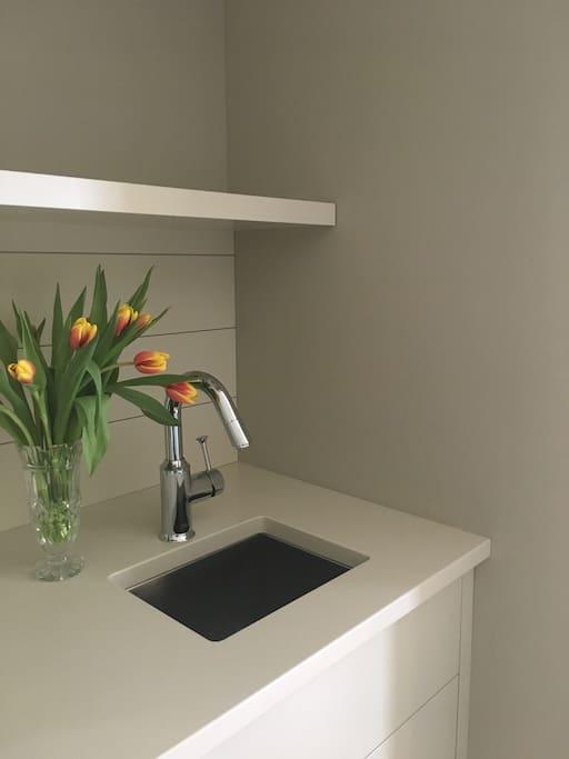 Wet bar sink in your bedroom