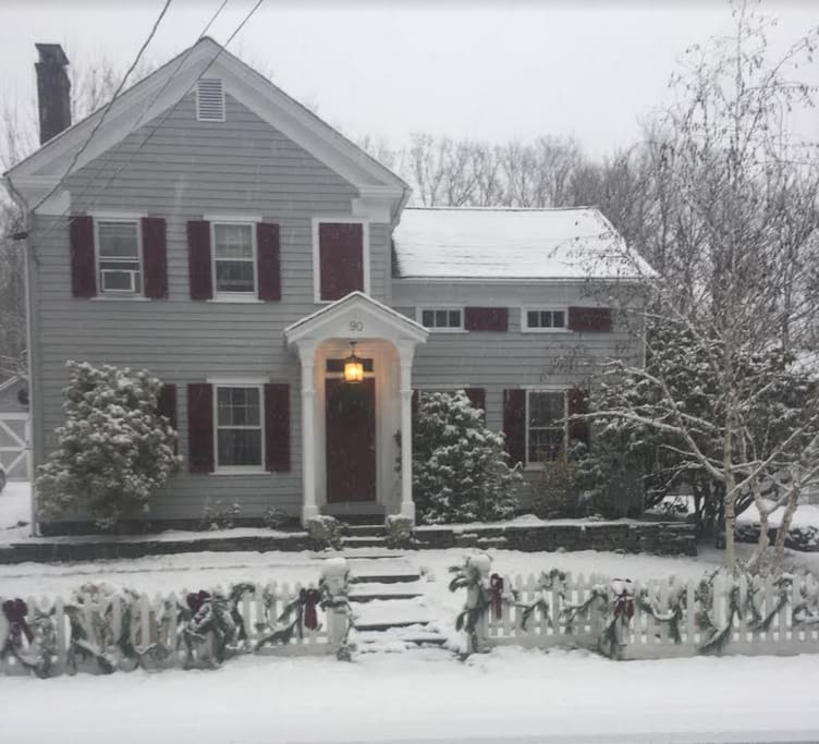Main House First Snow