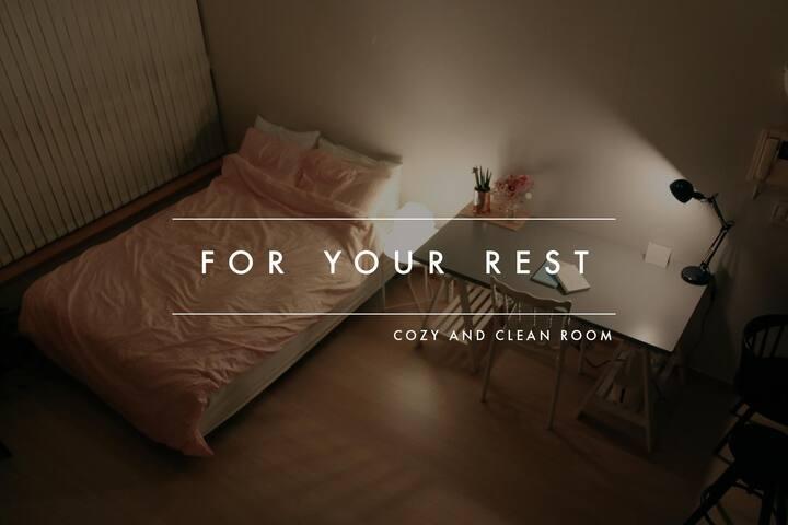 [BUNDANG] Cozy & Clean room, 3min subway