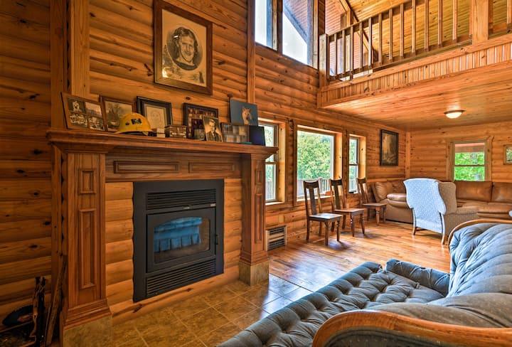 Pastoral Log Cabin w/ATV Trails - Grand Lake ~1 Mi