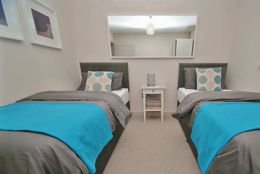 Bedroom 3 - Set up as two singles, can be a double if couples are staying.