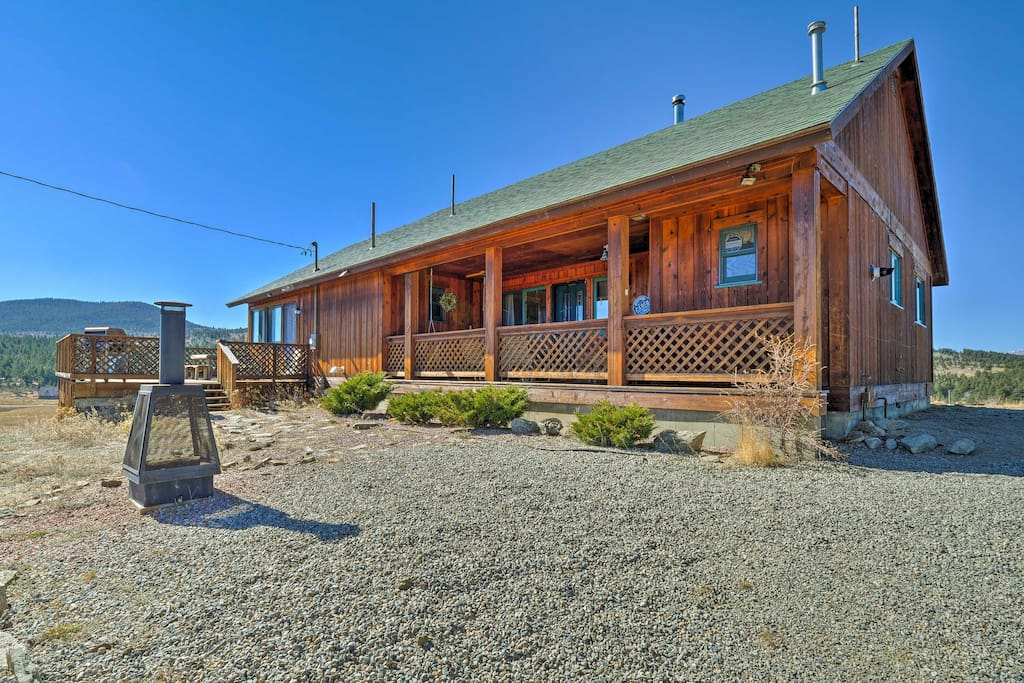 Situated on 4 acres, this home offers lots of privacy.