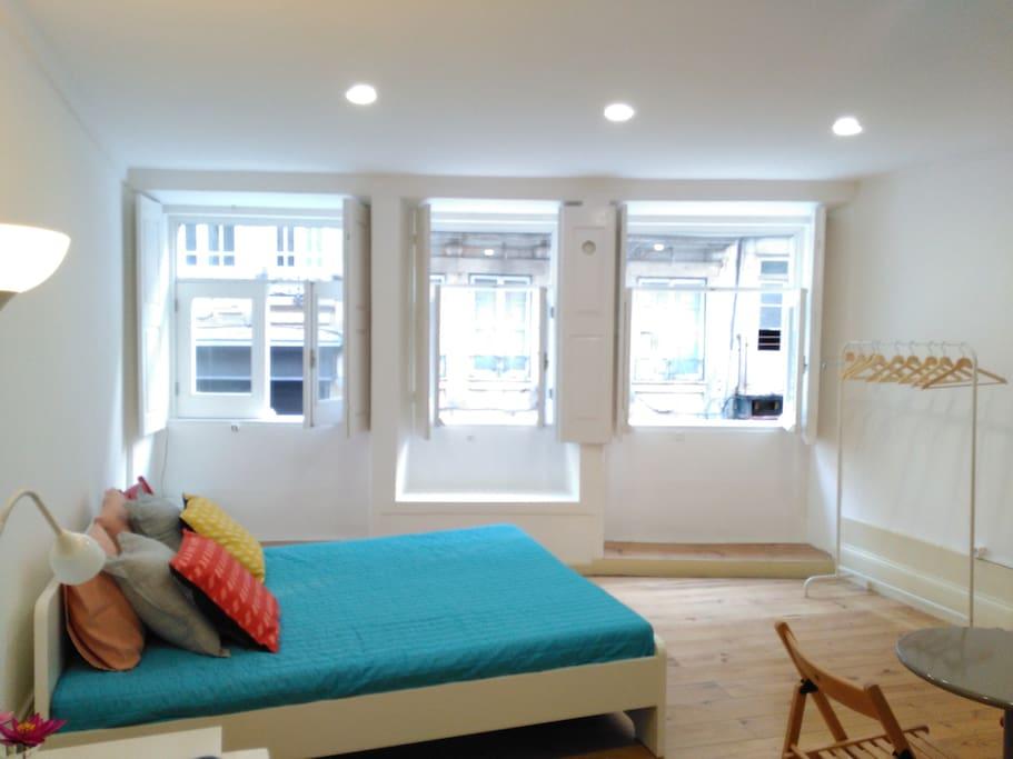 Studio bed linen included