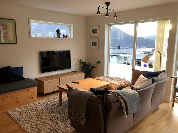 Modern house with fjord views in Sogndal city