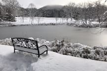 Winter view of the lower pond