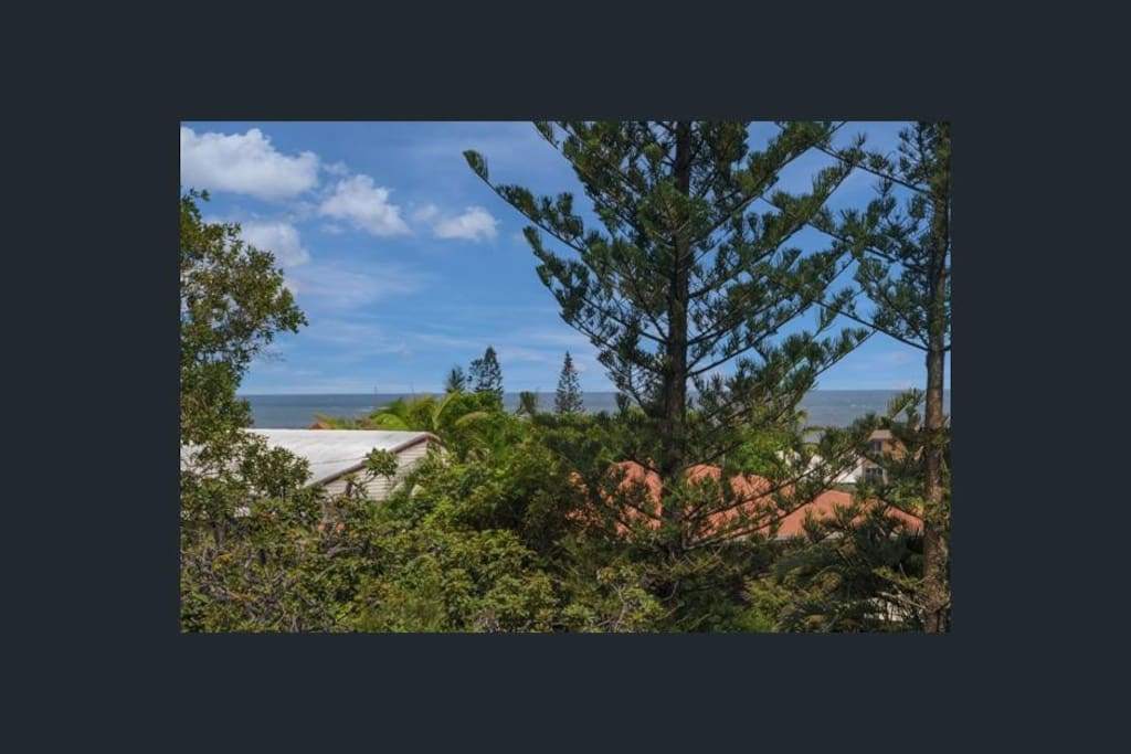 Shelly Beach... view from the upstairs deck