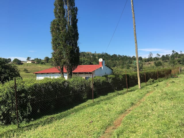 Two bedroom house in  approximately 4 hectares of land,set in a tranquil rural community community