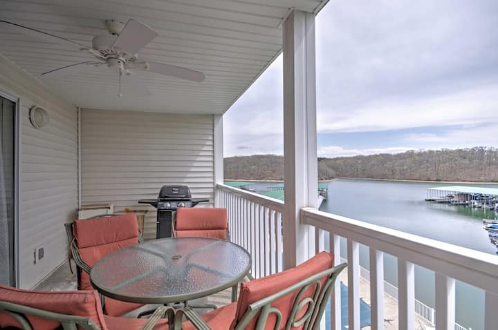 Lakefront Osage Beach Condo w/ Pools & Water Views
