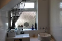 Wet room with rain shower