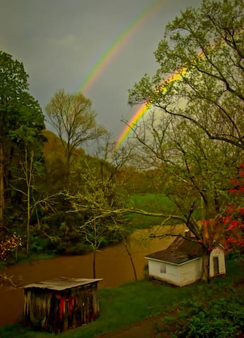 Double Rainbow View From the Front Porch