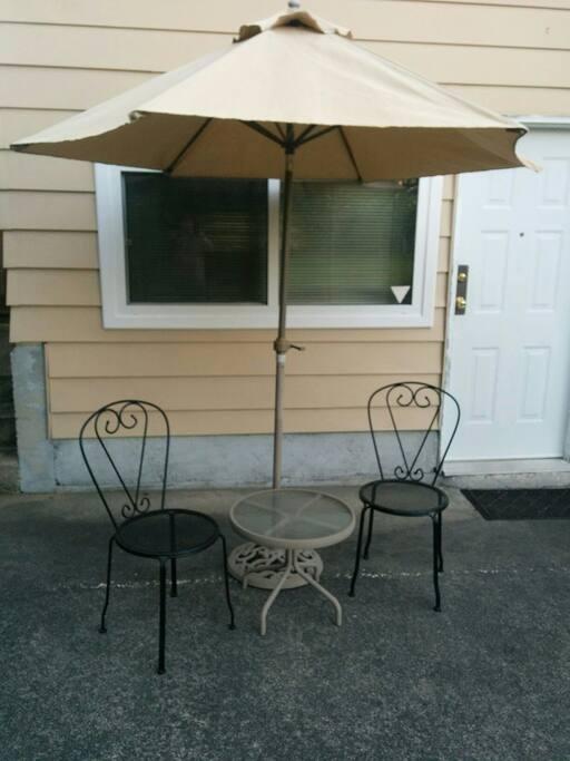 sitting area outside