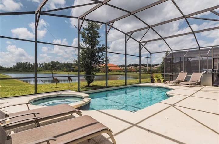6BR/4.5B, Private Pool/SPA, 10mi Disney. Amazing!