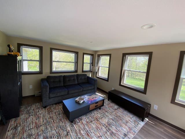 River Room with fantastic views, a pullout queen bed and door from the house for privacy.
